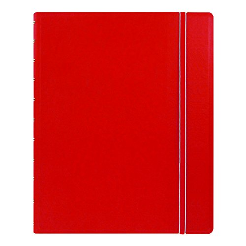 "Filofax Letter Size Notebook, 10.875"" x 8.5"", 112 Ruled Pages, Red (B115102U)"