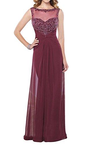 Elegant Spitze Marie Weinrot mit Brautmutterkleider Braut Lila Festlichkleider Promkleider Abendkleider La Langes T1t44