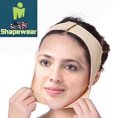 Facial Compression & Chin Support Continual Chin Support and Pressure - Medium Beige Lipofoam Strips and Wipes Included by LipoHealing, Corp. Unisex