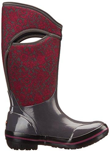 Floral Quilt Multi Womens Dark Plms Boots Grey Rubber Bogs xTUFc