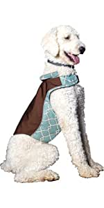 Kurgo Portsmouth Dog Walking Jacket, X-Large, Brown/Blue