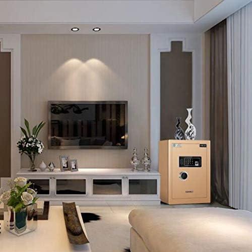 パーツボックス 安全なスマート伸縮ハンドルオフィスミニ金庫ホームプライベートアイテムベッドルーム見えないベッドサイドテーブルクリスマスのギフト (Color : C, Size : 38*33.5*45cm)