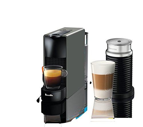 Nespresso by Breville Gray Essenza Mini Espresso Maker Bundl