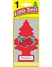 LITTLE TREES U6P-60312 Aromatizante Pino de 6 Pack Aroma Fresa, 4, Rojo Empaque de, 6 Empaque de