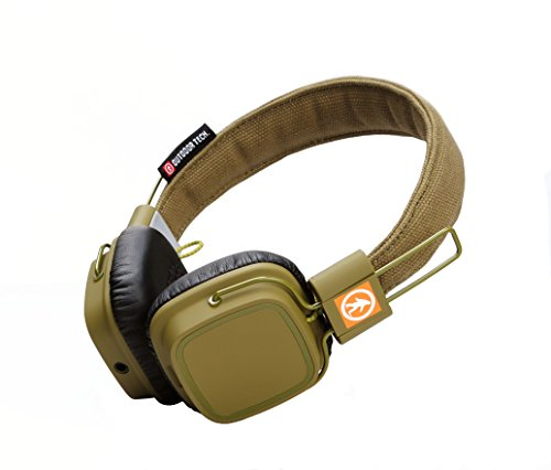 Outdoor Tech OT1400 Privates - Wireless Bluetooth Headphones with Touch Control (Army Green) by Outdoor Technology (Image #3)