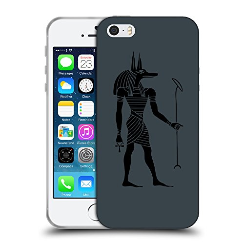 GoGoMobile Coque de Protection TPU Silicone Case pour // Q07640606 Anubis egypt 1 Arsenic // Apple iPhone 5 5S 5G SE