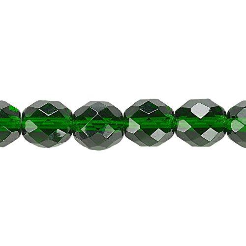 Emerald Transparent Beads - 6