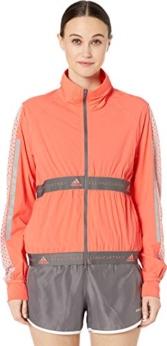 - adidas by Stella McCartney Women's Run Light Jacket, Hot Coral, Orange, Pink, Small