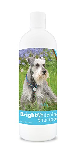 Healthy Breeds Bright Whitening Dog Shampoo For Miniature Schnauzer - For White, Lighter Fur - Over 150 Breeds - 12 Oz - With Oatmeal For Dry, Itchy, Sensitive, Skin - Moisturizes, Nourishes Coat