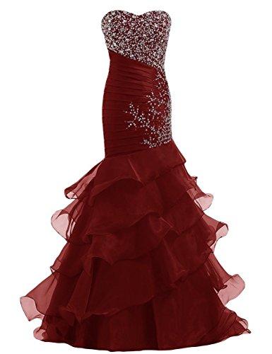 charmingbridal - Robe - Trapèze - Femme -  rouge - 46
