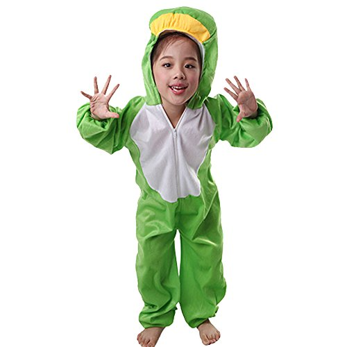[Moolecole Halloween Christmas Kids Costume Toddler Baby Animal Costume Frog L] (Child Frog Costume Pattern)
