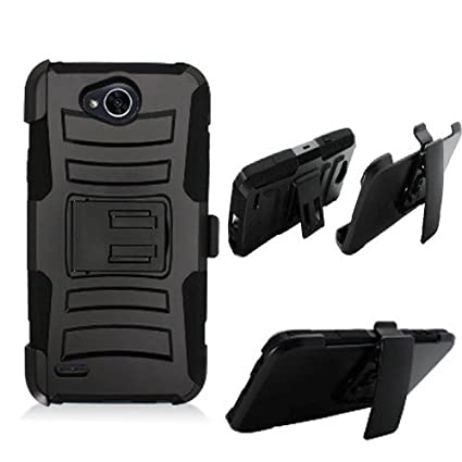 info for d061e 37283 Phone Case Straight Talk LG Fiesta L64vL 63BL, Tracfone LG Fiest-2 L163B,  (Simple Mobile) LG X-Power-2 LTE, LG X-Charge, LV7 Rugged Cover Stand Combo  ...