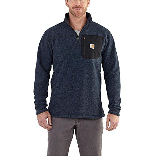 Carhartt Men's 102272 Walden Quarter-Zip Fleece Sweater - Large Regular - Navy