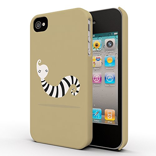 Koveru Back Cover Case for Apple iPhone 4/4S - Zebra Snail