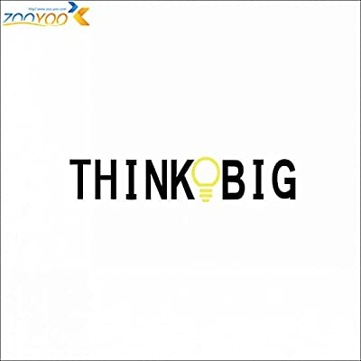 FunnyPicker Think Big Quote Wall Stickers Home Decorations Study Room Decoration Sticker 3D Diy Vinly Wall Decals Walldecors
