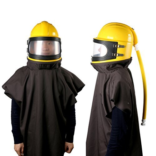 YaeTek AIR Supplied Safety Sandblast Helmet Sandblasting Hood Protector