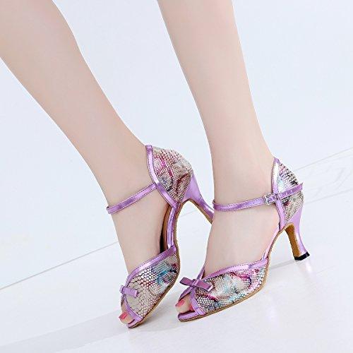 Minitoo - salón mujer Purple-7.5cm Heel