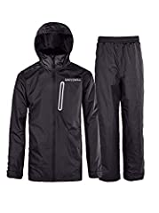 Waterproof & Breathable & Lightweight & Packable & Windproof Rain Jacket and Trousers Suit.It is a MUST HAVE that you are left dry in wet weather / rainy days.>Occasions: Suitable for indoor & outdoor exercise like runn...