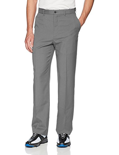 PGA TOUR Men's Flat Front Golf Pant with Expandable Waistband, Quiet Shade, 36W x - Pants Stretch Mechanical Mens Woven