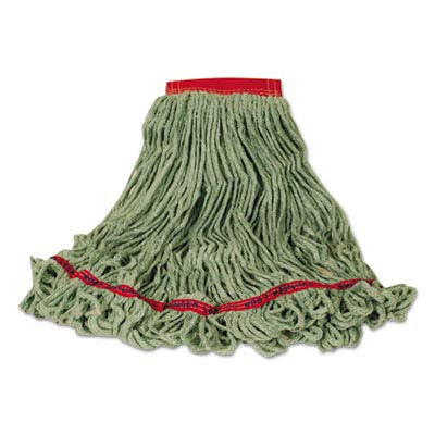 RCPC153GRE - Swinger Loop Wet Mop Heads, Large, Green, Cotton/Synthetic Blend