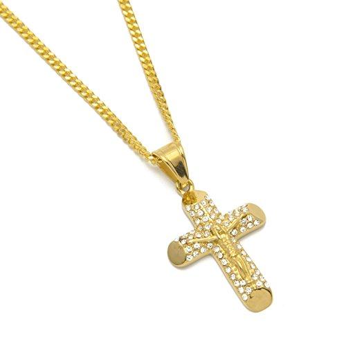c0f02600d46d 80% OFF Beydodo Colgante Collar Chapado en Oro Hombre Collar de Hombre  Collar Cruz Jesús