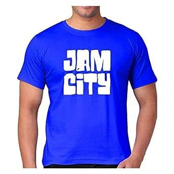 Fmstyles Jam City Panda Pop Printed Tshirt - Royal Blue