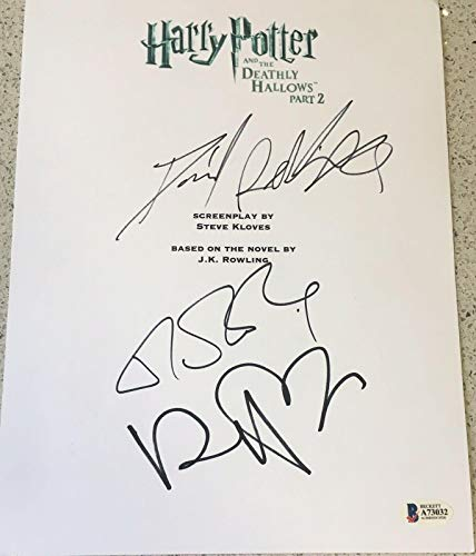 Jk Rowling Radcliffe Cast Signed Autograph Harry Potter Deathly Hallows 2 Script (Cast Of Harry Potter Deathly Hallows 2)