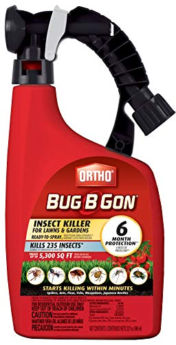Ortho Bug B Gon Insect Killer for Lawns & Gardens Ready-to-Spray, 32 fl. oz, Kills Spiders, Ants, Fleas, Ticks, Mosquitoes & Japanese Beetles, Starts Killing Insects Within Minutes