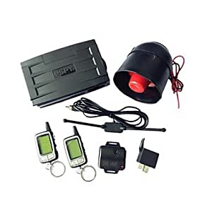 GDW SPY 2-Way LCD Car Alarm Security System Remote Engine Start 24h Reservation Mode