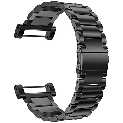 Strap Suunto (Octane Bands Suunto Core Watch Band - Metal Stainless Steel Strap Replacement Kit Black - Includes Lugs Adapters, Threadlocker, and Tools )