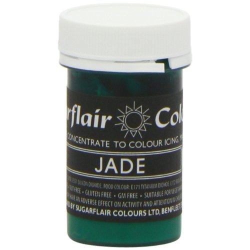 50 x Sugarflair JADE Green Pastel Edible Food Colouring Paste for Cake Icing 25g
