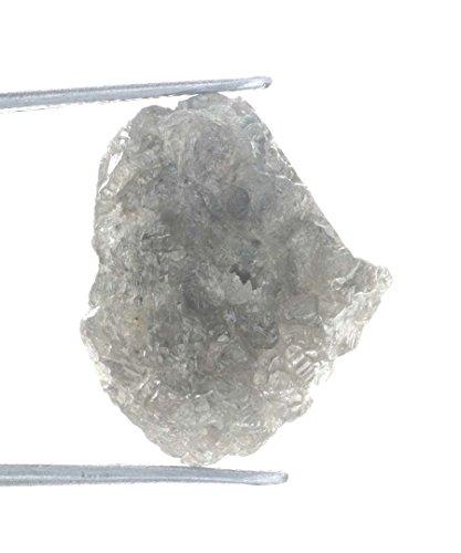 Amazing 9.61 Ct Silver Grayish Color Rough Natural Diamond by Kakadiya Group