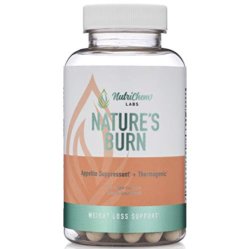 NATURE'S BURN - Vegan Fat Burner, Thermogenic and Clean Energy Nootropic with TeaCrine® & Capsimax® - 60 Count - Caffeine Free