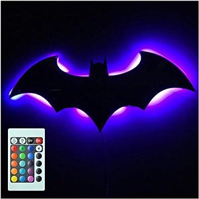 3D Batman 7 Color Espejo LED Control Remoto Luz Nocturna Canal de ...