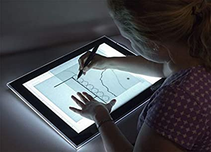 Drawing Sketching- Adjustable LED Brightness Levels Animation Tablet Size 17 x 24 Cartoonist Includes Upsyde Leaning Angle Pucks Acurit Thin Line Light Box Tracing Tablet for Artist