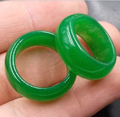 Liangliang988 Bague tendance en Jade naturelle verte pour Homme et Femme Mod/èles de Bijoux Cadeaux Multi-tailles