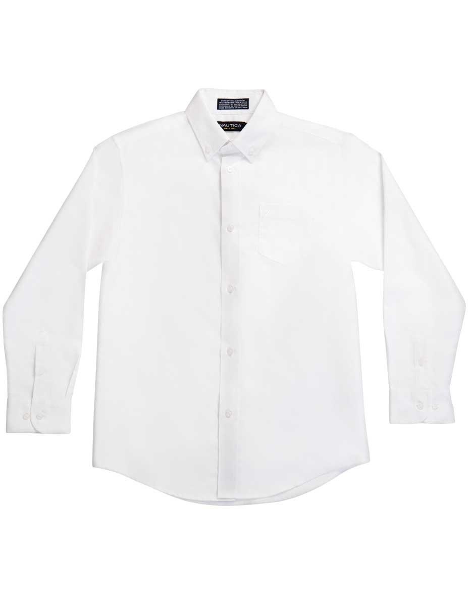 Nautica Boys Big Boys Solid Long-Sleeve Button-Down Shirt N871058