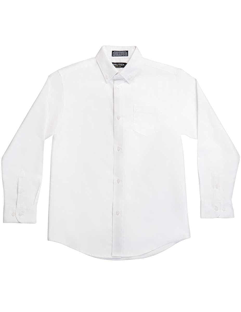 Nautica Boys Solid Long-Sleeve Button-Down Shirt