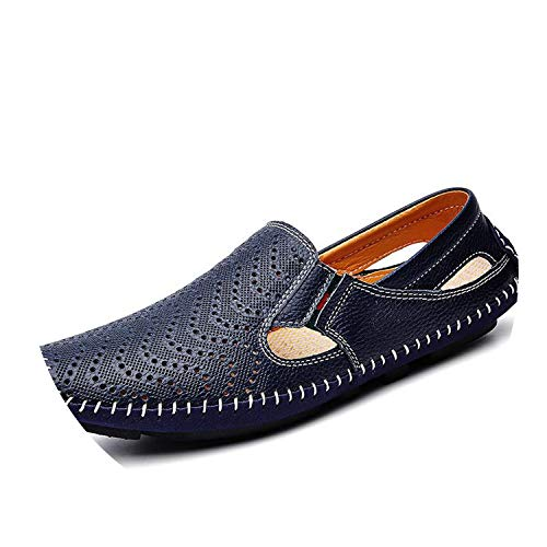 Shoes Luxury Leather Sandals Casual Slip-on Large Size Slippers Colors Size,Blue,9