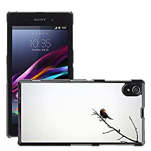 Hot Style Cell Phone PC Hard Case Cover // M00047561 razan bird birds animals iran hamadan // Sony Xperia Z1 L39H