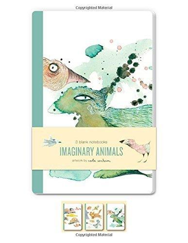 Imaginary Animals Blank Notebooks: Set of three 48-page blank notebooks by Carla Sonheim (2014-07-15)