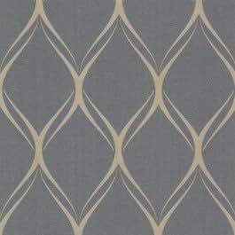 Fine Décor - Papel para la pared, diseño geométrico de rombos, color gris y dorado