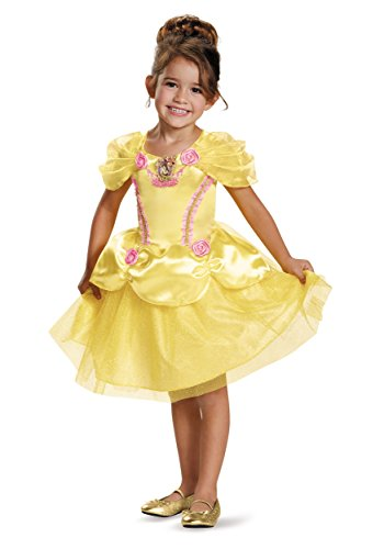 [Disguise 82896L Belle Toddler Classic Costume, Large (4-6x)] (Belle Halloween Costumes For Women)