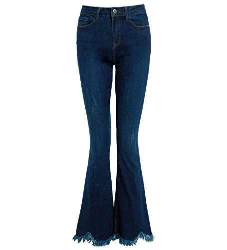 SS7 femmes Slim Fit Jean brut ourlet vas JEANS jeans bootcut taille 6 8 10 12 14 NEUF Indigo