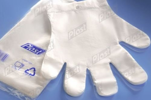 Plastic Disposable Gloves – Size Large – 100pcs – Premium polythene