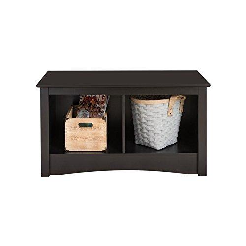 Black Twin Cubbie Bench