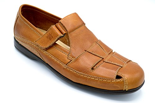 Pitillos 704 cuero - Sandalia de piel para hombre -