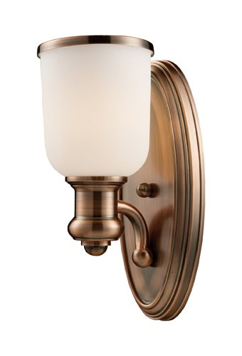 Elk 66180-1 Brooksdale 1-Light Sconce, 13-Inch, Antique Copper by ELK