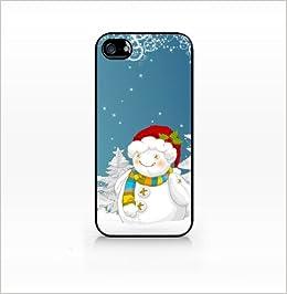 best service b7dca c548d Christmas Snowman - Flat Back, iphone 4 case, iPhone 4s case, Hard Plastic  Black case - GIV-IP4-197 BLACK