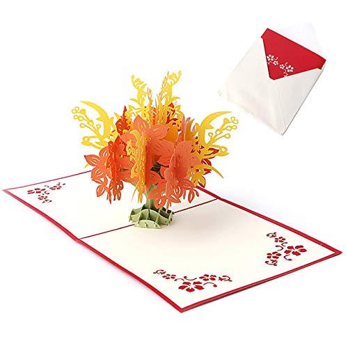 3D Greeting Happy Birthday Cards Anniversary Wedding Card Postcard Gift